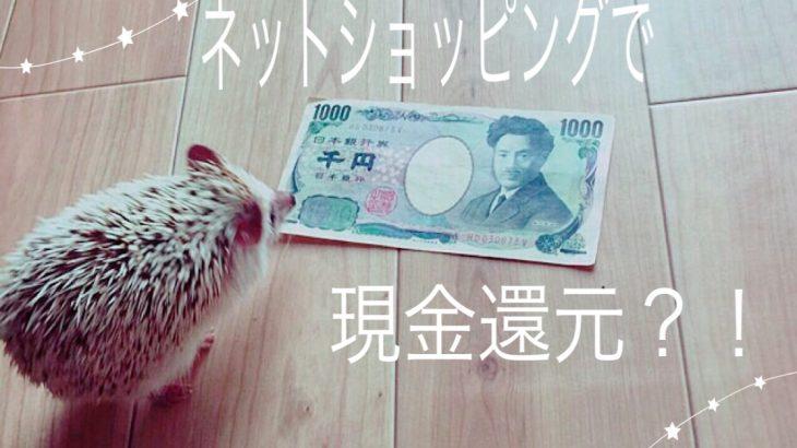 ネットショッピングで現金還元!!最短即日にはお金が戻ってきます!